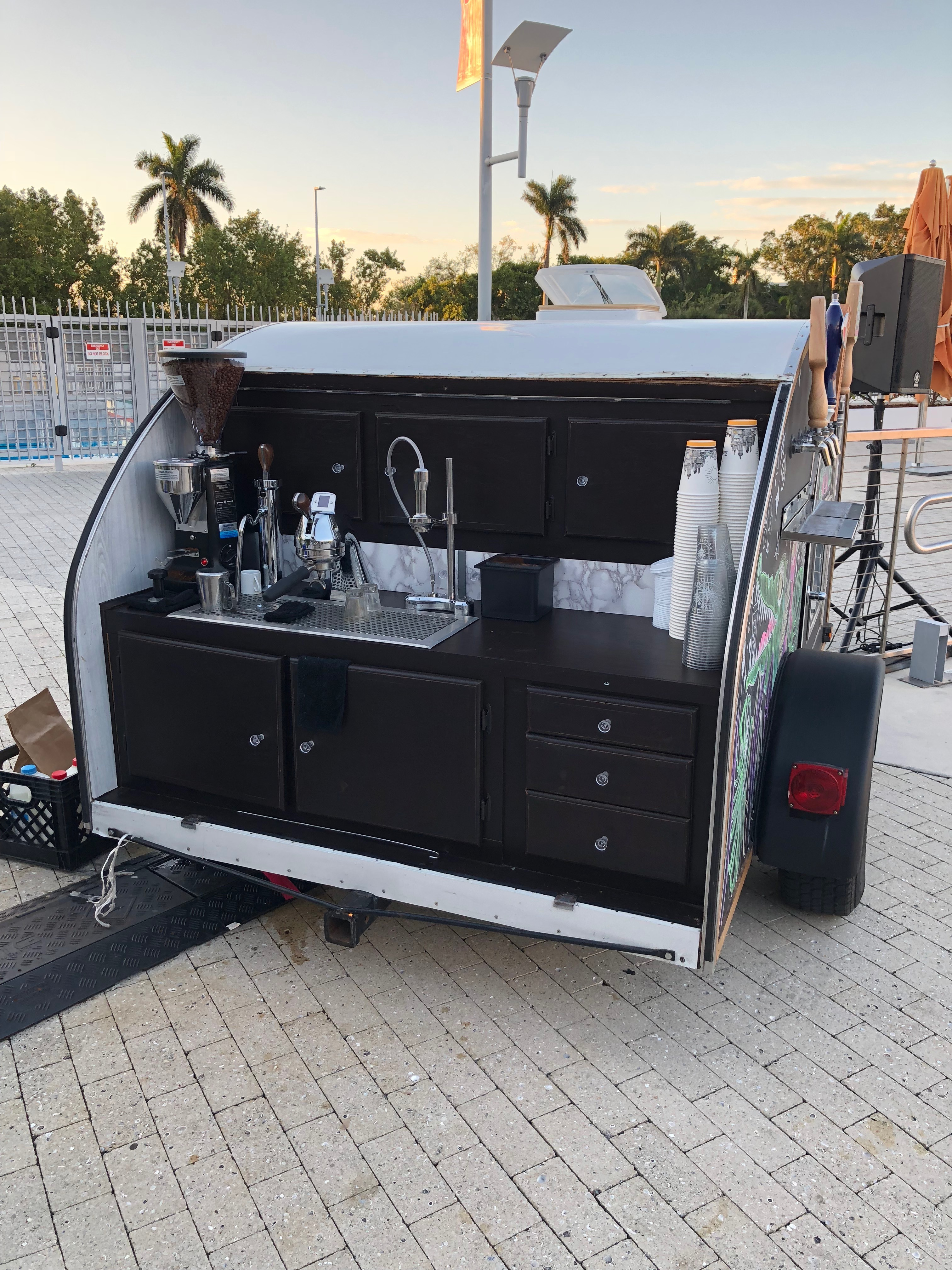 tradecraft, coffee cart, trailer, modbar